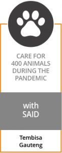 CARE FOR 400 ANIMALS DURING THE PANDEMIC with SAID